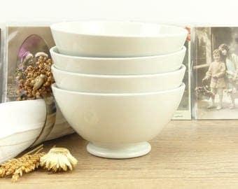 Great Bowl Café au Lait - French Bowl white - large bowl - Bowl Breakfast Bowl - Bowl Café au lait Bowl vintage - Vintage Bowl-