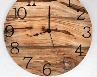 "Rustic Pallet Wood Clock - 16"" Sample - clock will be made on order"