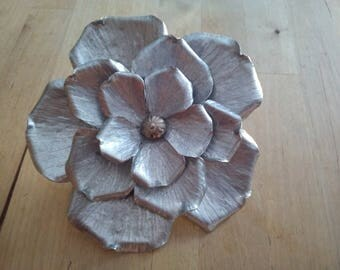 My first decorative flower hammered aluminum.