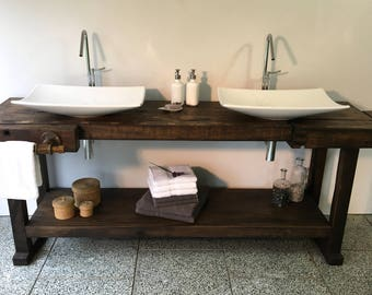Design double washbasin from old Workbench