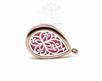 Organneck® 'Chocolate Drop' Aromatherapy Essential Oil Diffuser Necklace Locket