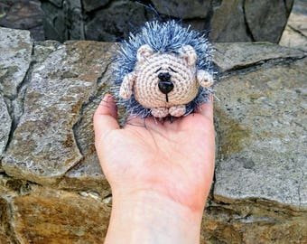 Crochet plush small hedgehog toy Gift for kids Stuff Stuffed Animal Amigurumi Crochet toys Girlfriend gift  and kids gift ideas