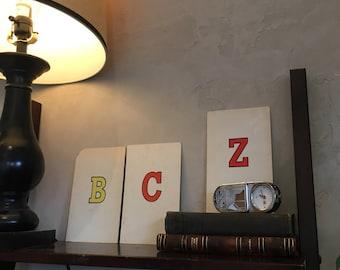 Vintage oversized letter cards