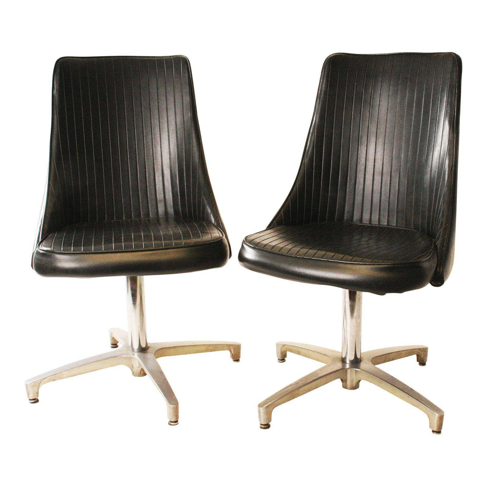 Vintage leather swivel chair - Details Mid Century Modern Swivel Chair