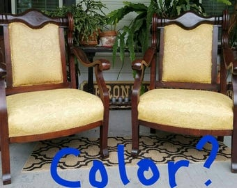 Furniture Entry way chairs wood upholstered
