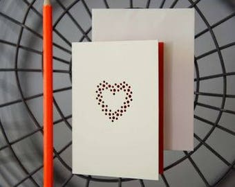Elaborate Heart Card by VINTAGE PLAYING CARDS