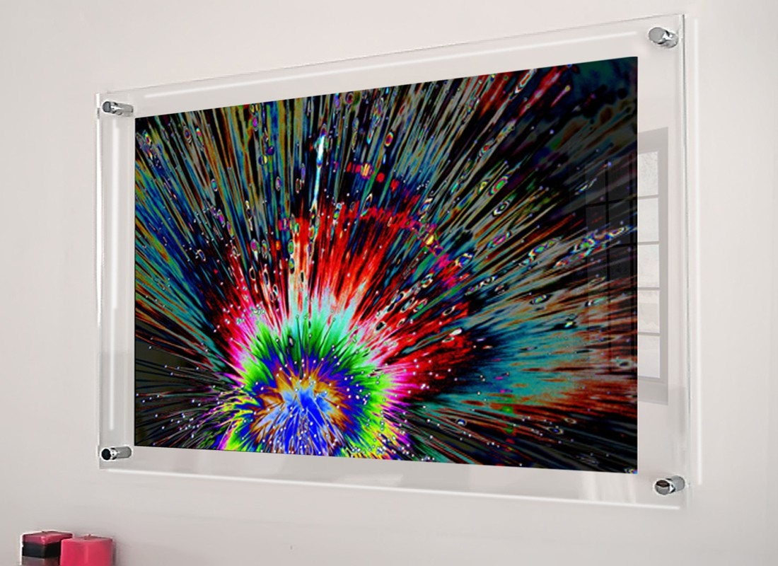 clear Cheshire acrylic perspex Plexiglas floating picture photo wall ...