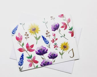 FLORAL CARDS - 10 pack