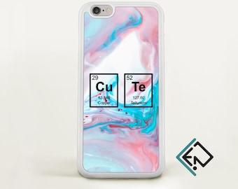 Cute marble Iphone 8 case gift Iphone 7 plus marble chemistry joke Iphone 6 plus Iphone 6 monogram unique case galaxy iphone case MT12