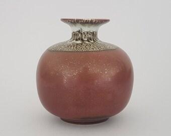 "Sven Wejsfelt, Gustavsberg ""Stoneware vase with tenmoku and lava glaze"""