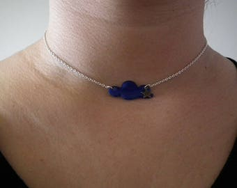 """""""Head in clouds"""" Necklace blue"""