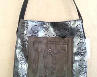 Portage Messenger bag shoulder leather and imitation