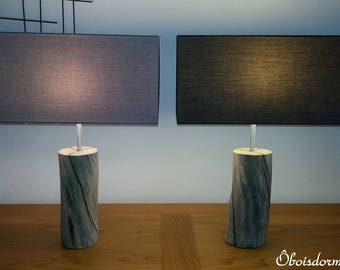Driftwood lamps pair