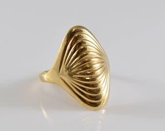 14K Gold Ring Size 6 1/2
