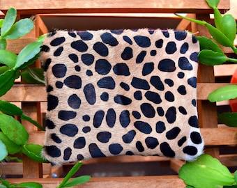 Ready to ship cheetah pouch, cheetah leather pouch, leopard pouch, cheetah pouch, cheetah leather bag, leopard leather bag, cheetah clutch