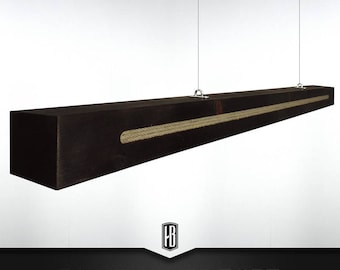 Rope pendant lamp made of 100cm solid wood