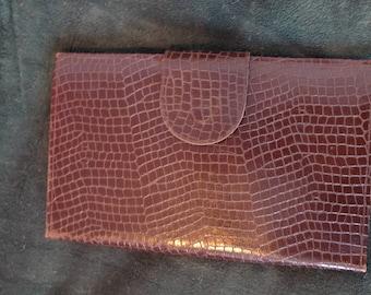 vintage leather document holder or towel