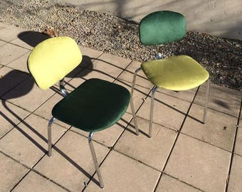 Pair of vintage Strafor chairs revisited - 80s