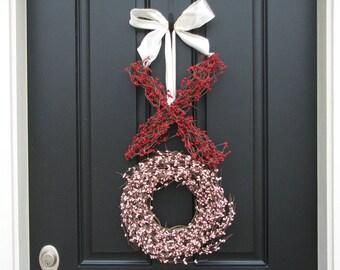 Valentine Wreath SALE - Valentine's Day Wreath - XO Wreath - Wedding Wreath