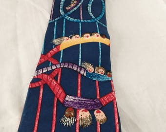 Vintage Save The Children Necktie/100% Imported Silk/Made In USA/Great Pre-Owned Condition/T