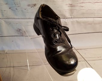Vintage 50's Child's London Black Tap Shoes Size 2 Play-Poise In Original Box