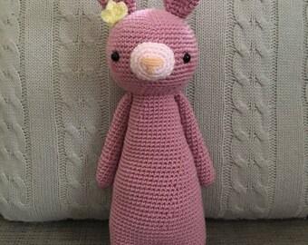 Pink Crochet Bunny