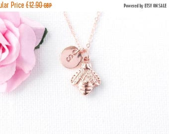 VACATION SALE Rose Gold bumble bee Necklace, rose gold bee necklace, bumble bee necklace, bee jewellery, Gift Idea, honey bee jewelry, RBBIN