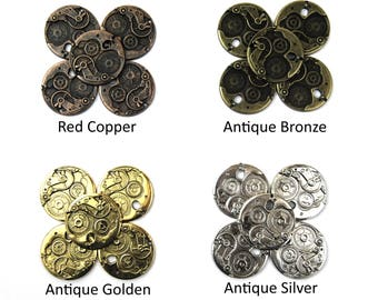 38mm Steampunk Disc Charms - Choice of Colours - Charms Or Pendents For Jewellery Making