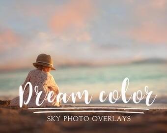40 Dream color sky photo overlays