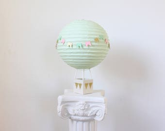 Hot Air Balloon Decoration - Baby Shower Centerpiece Decoration - Bridal Shower Decor - Baby Shower Gift - Nursery Decor - Aqua