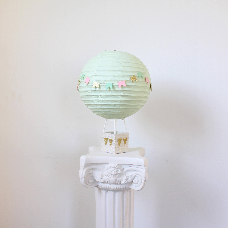 Hot air balloon decoration baby shower centerpiece