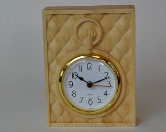 Pocket Watch Clock - Wood