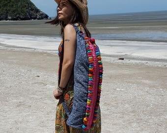 Yoga bag, Yoga Mat Bag / Bohemian Beach Bag / embroidered yoga mat bag