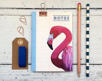 Flamingo Notebook - A6 Notebook - Bird Notebook - Flamingo - Birthday Gift - Christmas Gift - Stocking Filler - Stocking Stuffer - Lined