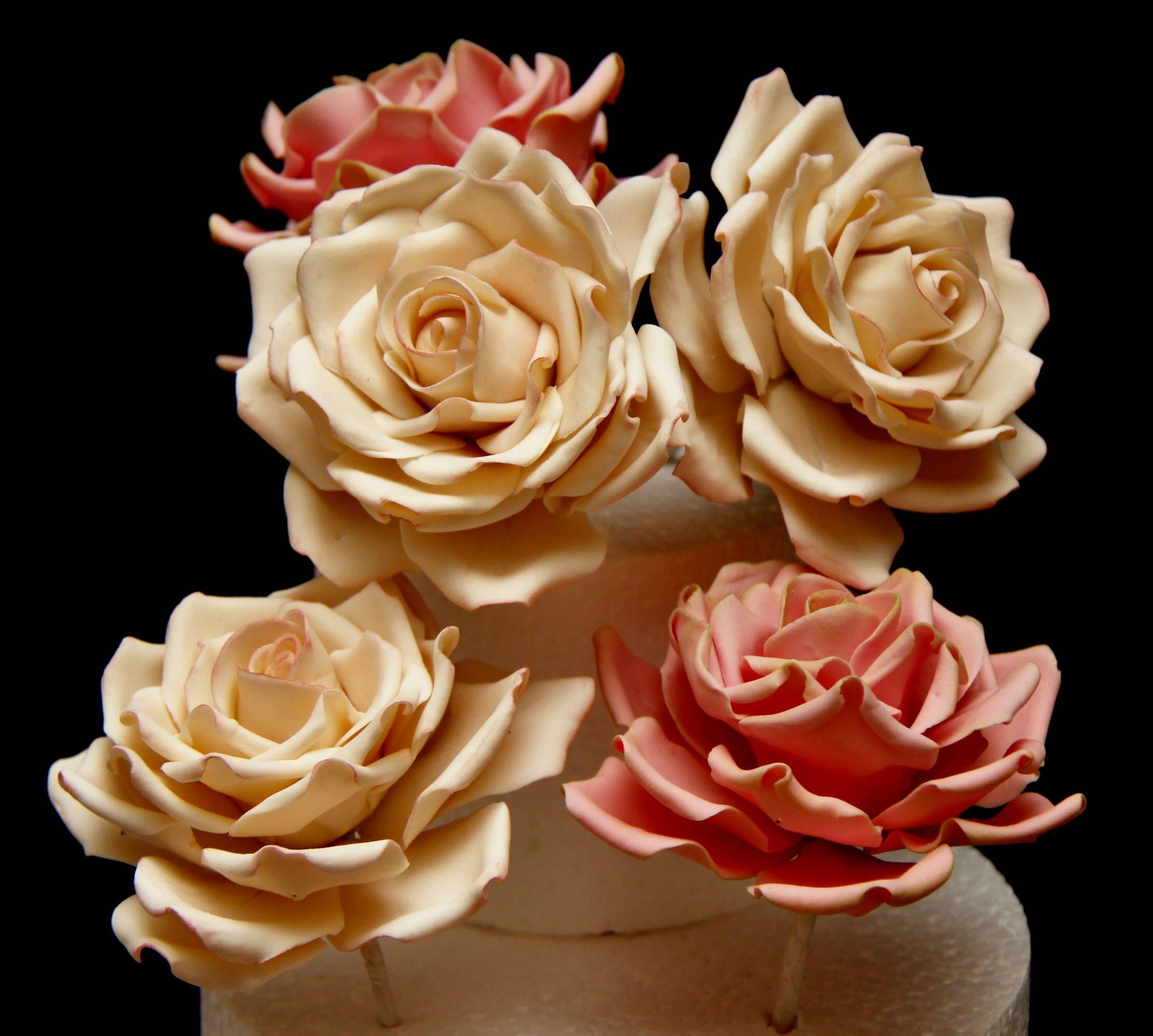 Large Gumpaste Rose For Cake Decorations Filler Flowers Fondant