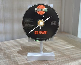 "CD Clock: ROD STEWART ""Greatest Hits""  Desk or Wall Clock"