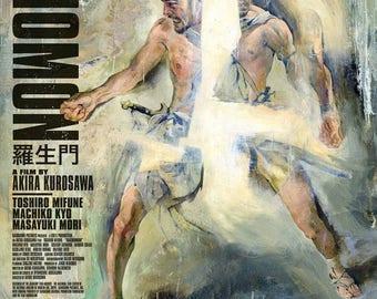 Summer Sale RASHOMON Movie POSTER Rare Kurosawa Samurai Japanese