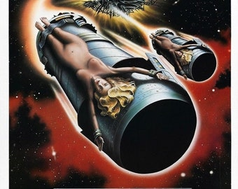 SPRING SALE: LIFEFORCE Movie Poster Rare 1985 Tobe Hooper Sci-Fi Horror
