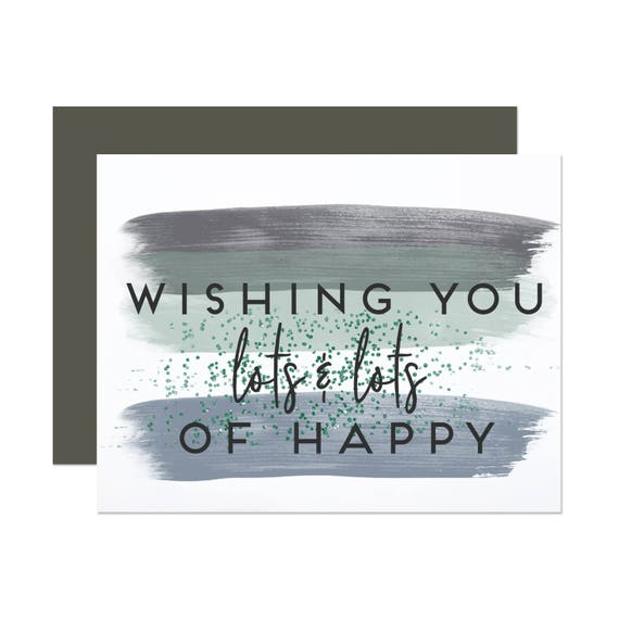 Wishing You Lots of Happy - Watercolor Birthday Card