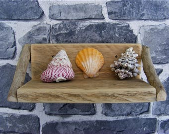 Rustic Wooden Driftwood Style Shelf for Keepsakes/Mementoes