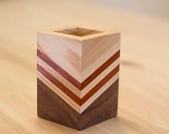 Wood Pencil Holder for Desk
