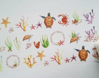 Design Washi tape underwater sea animals masking tape