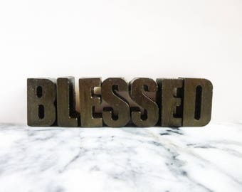 Blessed decor - Concrete letters - Blessed letters - Cement letters - Blessed - Letters decor - Cement decor - Concrete decor - Home decor