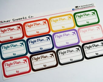 Flight Plan Stickers