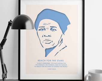Harriet Tubman Quote - Black History - Wall Art - She Persisted - Civil Rights - Gifts for Her - Home Decor - Art Prints - Feminist Quote
