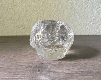 Vintage Kosta Boda Glass Snowball Votive Candle Holder 1970's Sweden Ann Warff