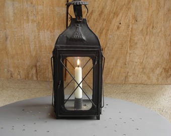 "Old French ""Witches'"" Lantern. Vintage French Lantern. Candle Lantern."