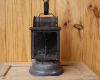 Vintage SNCF Railway Lamp.  Old French Railway Lamp.