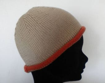 Hat for girl of beige/orange color Katia