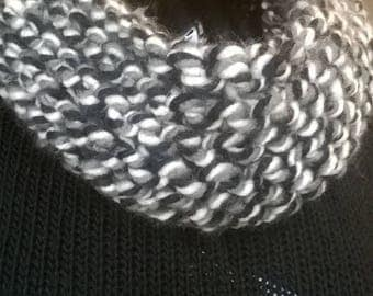 small snood hand knit from multicolor color